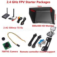 2 4 GHz FPV Starter Packages 4km 500mw Wireless FPV Transmitter And Receiver HD Monitor 700TVL