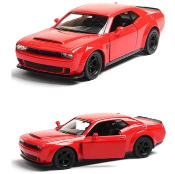 Wysoka symulacja Dodge Challenger, 136 skala stop wycofać Challenger, kolekcja toy modele samochodów, darmowa wysyłka