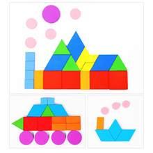 Juguetes para niños, Puzles educativos para bebés, rompecabezas Tangram de madera, juguete educativo con forma geométrica para niños