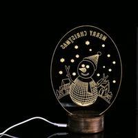 Casamento Рождество Снеговик 3d уникальный Освещение эффекты Оптические иллюзии Домашний Декор светодиодные настольные лампы 2017 S8