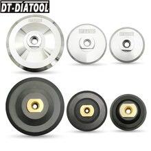 Tampon arrière pour tampons de polissage diamant, support de support pour disques de meulage, 2 pièces/pk, 80mm, 100mm, 125mm, M14 ou 5/8-11, support de disques de meulage 3