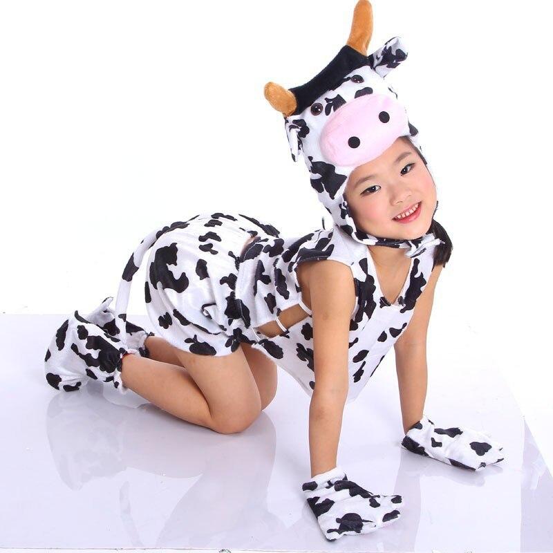children kids toddler cartoon animal milk cow costume performance jumpsuit childrens day halloween costumes for boy girl - Halloween Costume Cow