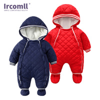 Ircomll 2018 Newest Baby Winter Rompers Lining Fleece Soft Comfortable Fashion Striped Infant Clothes Boys Girls Autumn Outwear