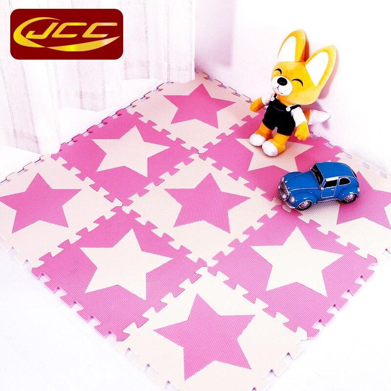 JCC dječja EVA pjena puzzle igra mat / 10pc djeca Star tepisi - Igračke za bebe i malu djecu - Foto 2