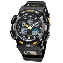 Pasnew мужские двойной кварцевый многофункциональный наручные часы открытый авто дата из светодиодов дисплей водонепроницаемый сигнализации 1002AD