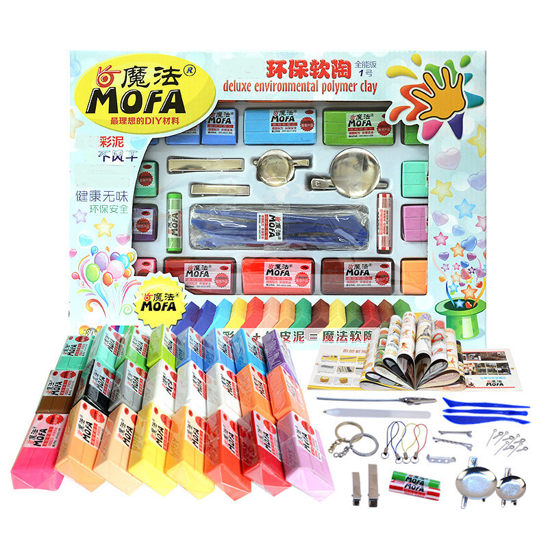 24 colors 720 g Kids Colored Baked Fimo Clay Sculpey Modeling Polymer Clay Soft Plasticine Playdough Children Educational Toys model plasticine diy fimo polymer clay tools professional slime playdough tool sculpture clay carving tools set toys for kids
