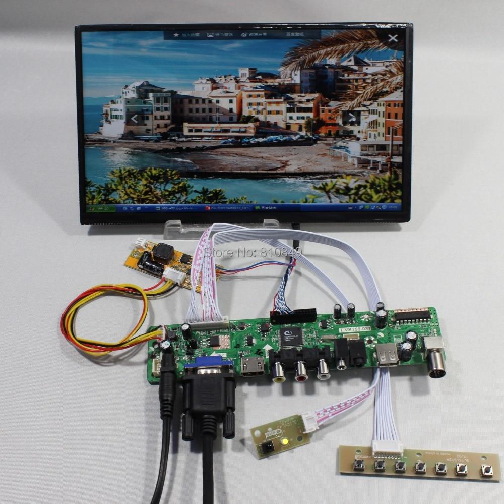 TV/HDMI/VGA/AV/USB/AUDIO LCD controller Board+10.1inch N101BCG-L21 IPS lcd panel стоимость