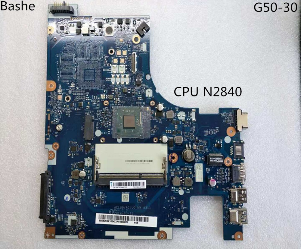 Фирменная Новинка aclu9/NM-aclu0 A311 Материнская плата ноутбука lenovo ноутбук с n2840 G50-30 Процессор (процессор Intel 100% Тесты)