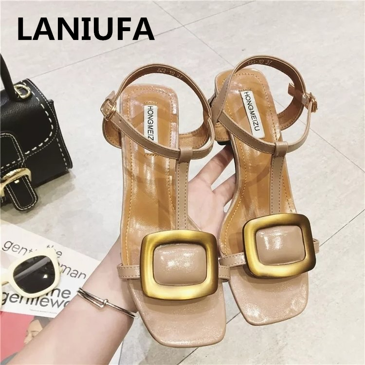 Summer women shoes Sandals women fashion pu Leather T-tied Buckle med heels casual Ladies Sandals Women shoes mujer zapatos #678Summer women shoes Sandals women fashion pu Leather T-tied Buckle med heels casual Ladies Sandals Women shoes mujer zapatos #678