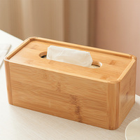 Household tissue paper box creative bamboo wooden tissue paper box modern simple roll paper drawing room tea table paper towel b