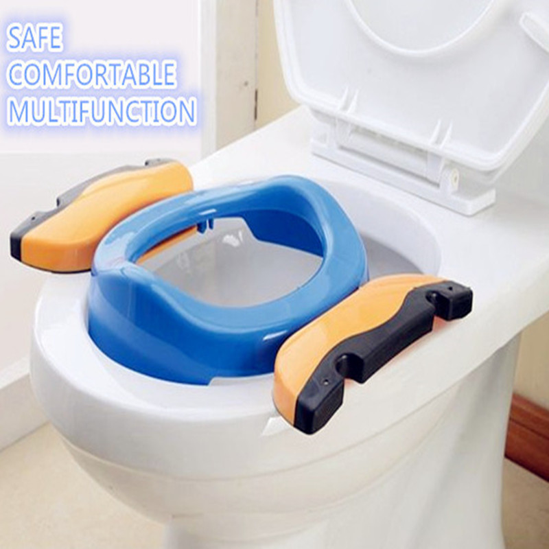 Blue pink color baby toilet seat travel portable p...