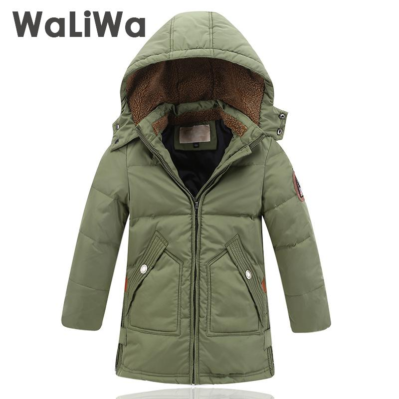 2017 Winter Thick Warm Children Boys Down Jacket Long Section Kids Tops Boy Parkas Fill White Duck Down 5 6 7 8 9 10 12 14 russia winter boys girls down jacket boy girl warm thick duck down