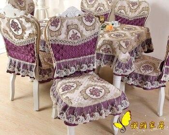 Tissu Floral Violet | Haute Qualité Violet Table Couverture Dentelle Chaise Couverture Rectangle Nappe Hôtel Mariage Nappe Machine Lavable Tissu Tissu Table