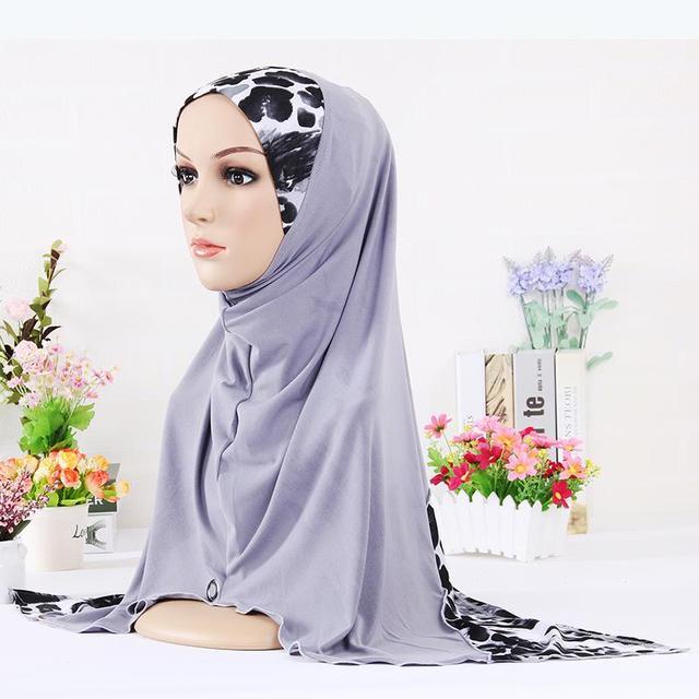 New Muslim Hijab for Women Fashion Leopard Pattern Muslim Patchwork Hijab Pashmina Wrap Hijab Muslim Headband Scarves