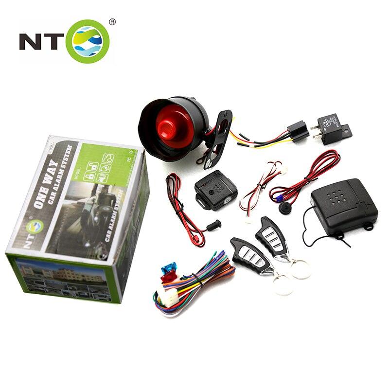 NTO 12V 433.92MHZ One Way Car Security Alarm System two Key Shock Sensor Remote Control Siren Shock Sensor Protection NT898L