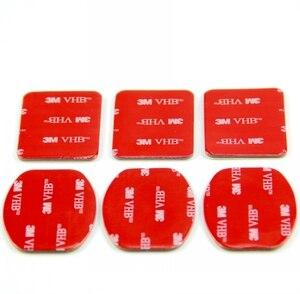 Image 3 - SnowHu 6Pcs אדום 3M VHB דבק מדבקת 3 מעוקל 3 שטוח צד כפול עבור Gopro hero 9 8 7 6 5 לxiaomi יי 4k GP14