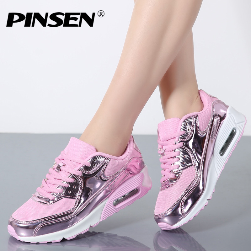 PINSEN Fashion 2017 Casual Shoes Woman Summer Comfortable Breathable Mesh Flats Female Platform Sneakers Women Chaussure Femme pinsen fashion women shoes summer breathable lace up casual shoes big size 35 42 light comfort light weight air mesh women flats