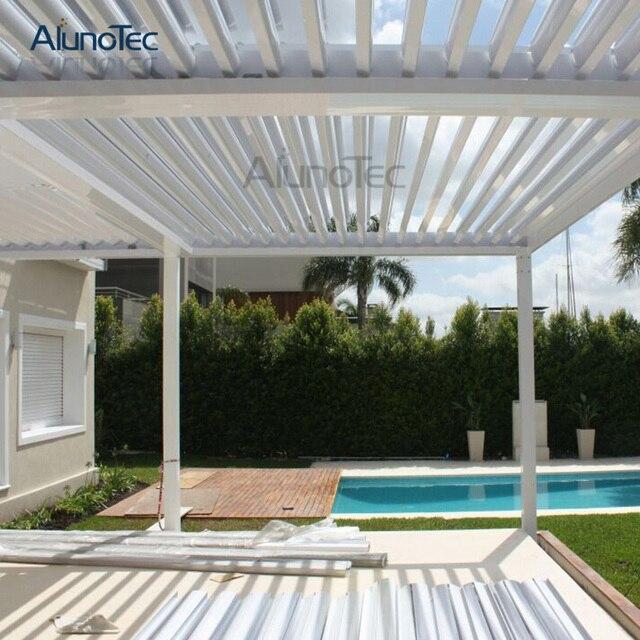 Dach Für Pergola motorisierte angepasst Öffnung louvre dach pergola für größe 4 mt