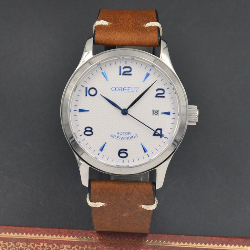 42mm Corgeut/Sterile dial/ white dial Sapphire Glass Automatic mechanical Men's Watch 42mm corgeut sterile dial watch sapphire glass black dial automatic mechanical mens watch
