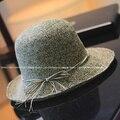 Verano de alta calidad hechos a mano sol sombreros de playa para mujeres ala ancha sombreros del cubo para mujer SCCDS-040