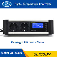 RINGDER AC 213 0 50C Digital Day/night Reptile Dimming Thermostat with Plug Socket Regulator Dimmable Temperature Controller
