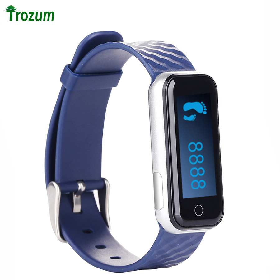 TROZUM New Smart Bracelet QS50 Heart Rate Monitor Smartband Smart Sport Watch Wristband Silicone Heart Rate