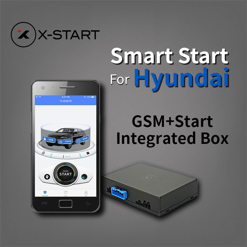 x-start remote smart start GPS Tracker Vehicle Tracking System for hyundai elantra mistra sonota 9 ix25 ix35 tucson santa fe