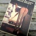 Vintage Clássico de Topless Sexy Girl Tomar Cerveja De Geladeira Retro Kraft Papel Poster Bar Cafe Decoração Da Casa Adesivo de Parede 42x30 cm