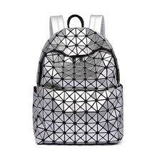 2016 Japon et Coréenne Style Nouvelle Mode pvc Sacs À Dos dames Laser sac à dos sac de loisirs voyage sac