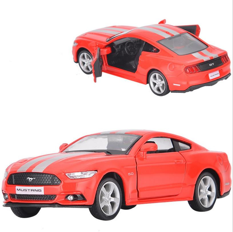 Ford Mustang GT,1:36 Alloy Pull Back Car Model Diecast Metal Toy Vehicles,Children's Educational Toys Free Shipping