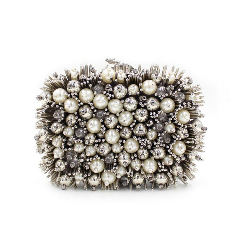 Women Pearl Beaded Evening Bag Day Clutches Bridal Clutch Purse Wedding Chain Shoulder Bag luxury handbags women bags designer day clutches elegant lady messenger bags for women clutch evening bag casual party purse beaded wedding handbag zh b0321