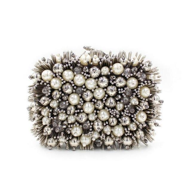 Women Pearl Beaded Evening Bag Day Clutches Bridal Clutch Purse Wedding Chain Shoulder Bag luxury handbags women bags designer