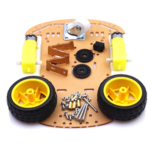 Image 2 - Módulo ultrasónico para Arduino Kit de Motor de seguimiento de evitación, Robot inteligente, kit de chasis de coche, codificador de velocidad, batería, caja, 2WD