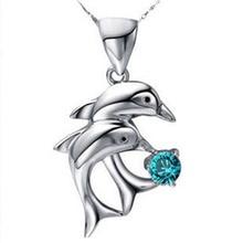 53b23289ba0c De moda y clásico amor para siempre doble delfín patrón mujer colgante  2