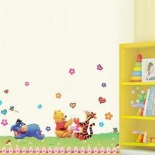 Winnie The Pooh Bear Tigger Donkey Wall Stickers For Kids Room Home Decoration Cartoon