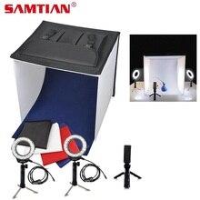 SAMTIAN K40II Портативный Фотостудия Мини светлая коробка тент для съемки  3200 К-9000 К CRI85 e176cb743f3cd