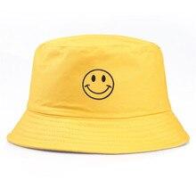 1 шт., повседневная шапка в рыбацком стиле с вышитым желтым смайликом для женщин и мужчин, модные простые уличные головные уборы с козырьком H18