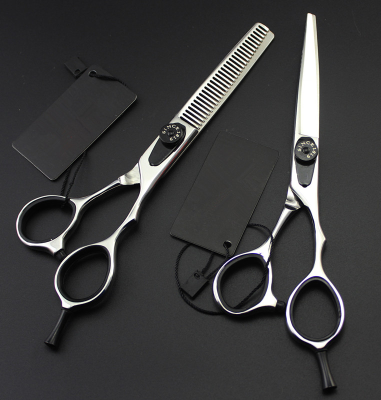 Upscale professional Japan 440c 6 inch hair scissors set thinning scissor cutting hairdressing scissorsUpscale professional Japan 440c 6 inch hair scissors set thinning scissor cutting hairdressing scissors