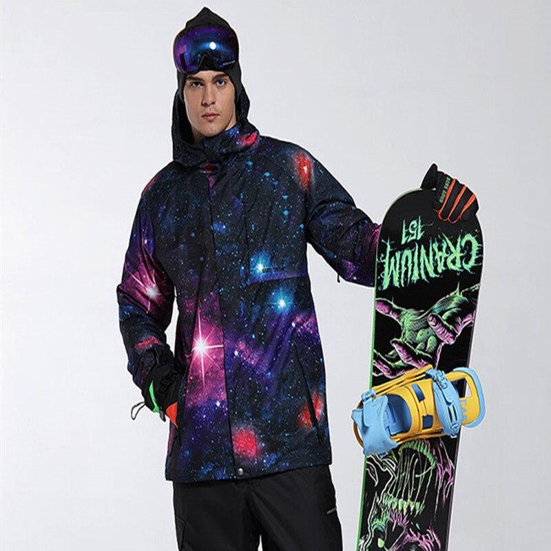 2019 GSOU снег Мужская лыжная куртка лыжный спорт сноуборд куртка ветрозащитный водостойкий с капюшоном дышащий супер теплая одежда Спорт на о