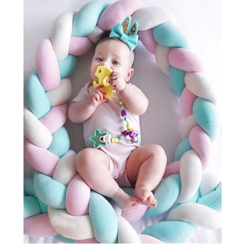 200cm Baby Bed Bumper Weaving Rope Knot Crib Protector Crib Bumper Newborns Baby Room Decoration Baby Photography Prop200cm Baby Bed Bumper Weaving Rope Knot Crib Protector Crib Bumper Newborns Baby Room Decoration Baby Photography Prop