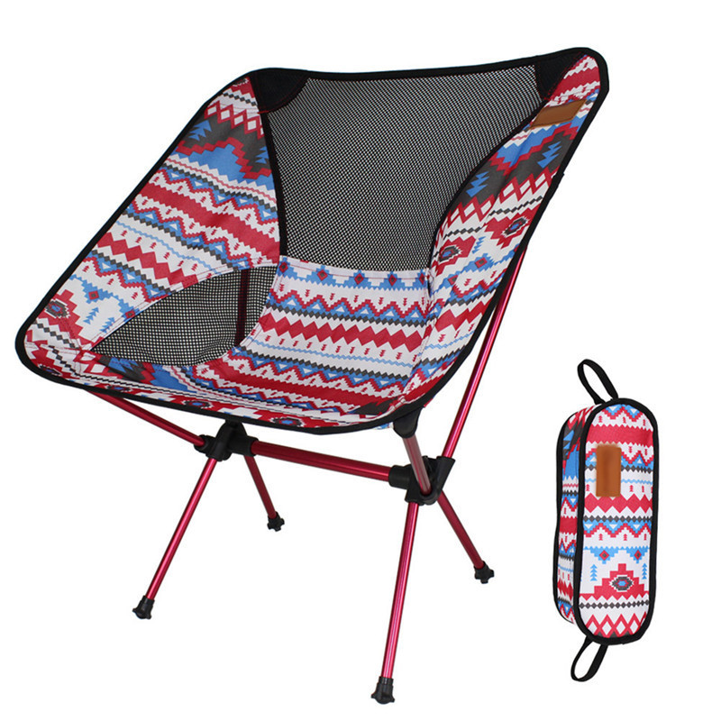 outdoor foldable chair camping folding chair portable fishing picnic bbq beach colorful chair with carry bag - Folding Outdoor Chairs