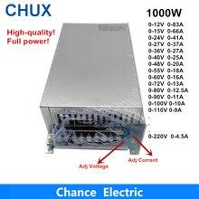 0 12V 15V 24V 36V 48V 55V 60V 72V 80V 90V 100V 110V מתכוונן 1000W מיתוג אספקת חשמל Led 1000W 110/220V ac ל Dc Smps