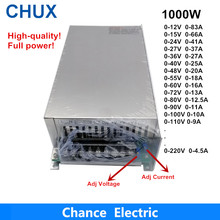 0-12V 15V 24V 36V 48V 55V 60V 72V 80V 90V 100V 110V Adjustable 1000W Switching Power Supply For Led 1000W 110/220V Ac To Dc Smps