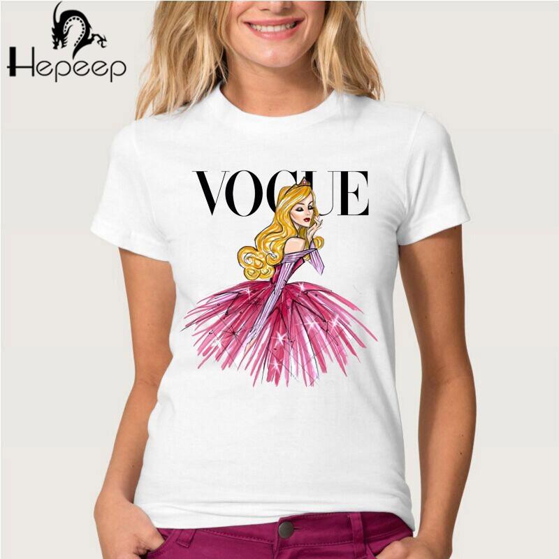 HTB1ji.bJVXXXXXTXpXXq6xXFXXXz - Summer fashion women t-shirt VOGUE punk princess print T Shirt