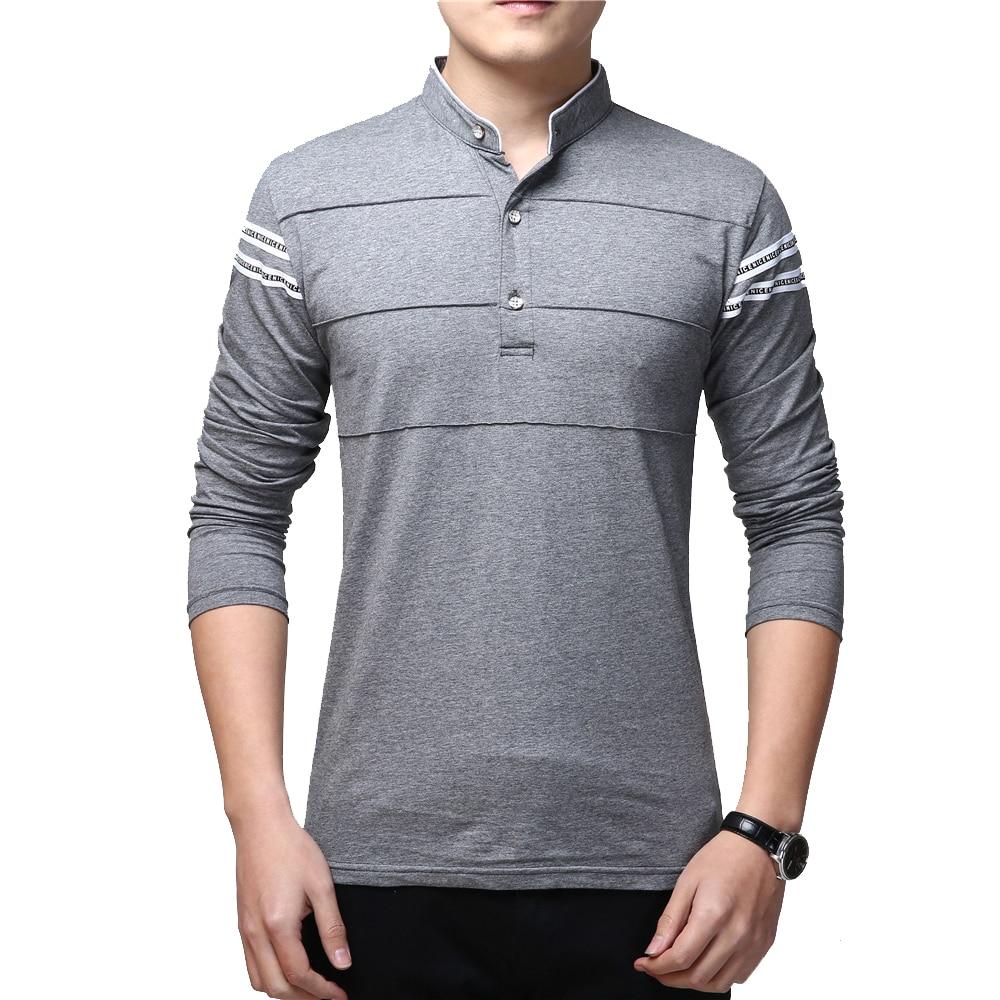 BROWON Spring Fashion Design Social   T     Shirt   Men Long Sleeve Plus Size Stripe Men   T  -  Shirt   New Slim Fit Cotton Men Clothes