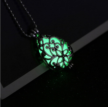 5pcs/lot (Exposure in sun first) Glow in the dark Jewelry Blue Wishing Drop Glowing necklace Glow glass women necklaces pendants