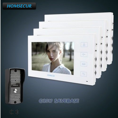 HOMSECUR 7 Wired Video&Audio Smart Doorbell+White Monitor 1C4M for ApartmentHOMSECUR 7 Wired Video&Audio Smart Doorbell+White Monitor 1C4M for Apartment