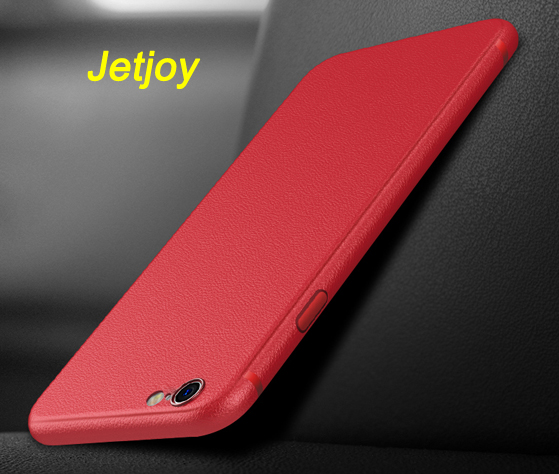 Jetjoy Silicone Case For iPhone X Ten 8 Plus 3D Leather Texture Ultra Thin Shockproof Protective Phone Cases Cover Coque Capa