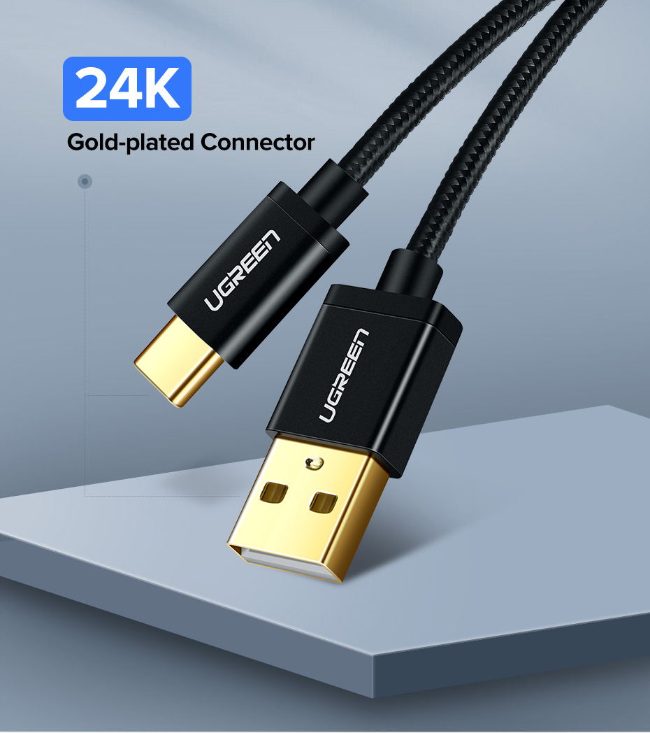 Ugreen USB Type C Cable And Mobile Phone Charging Cable For Fast Charge 14