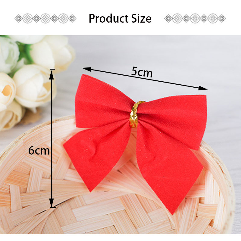 Image 5 - 12PCS DIY Christmas Pendant Bowknot Christmas Tree Ornaments XMAS Party Decor Kids Gift Toys 2020 Christmas Decorations For Home-in Pendant & Drop Ornaments from Home & Garden